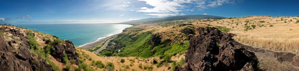 Panorama côte ouest de La Réunion