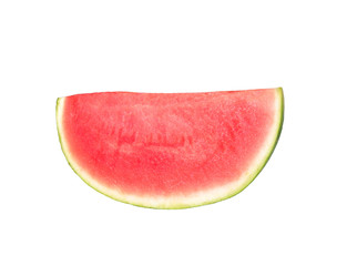 slice of watermelon, isolated on white