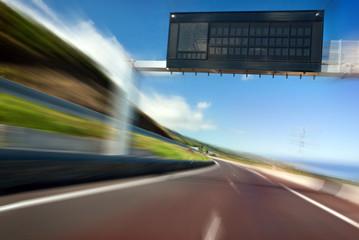 Panneau d'information routier
