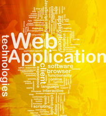 Web application background concept