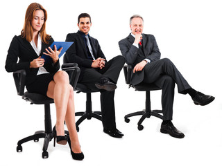 Sitting businesspeople