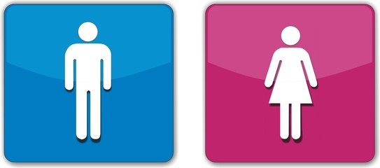 boutons homme et femme