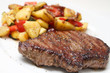 Beef steak with potaoes and mixed vegetable