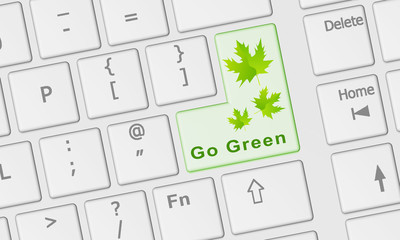 Keyboard with Go Green key in green