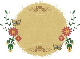 Moldura convite com ornamentos