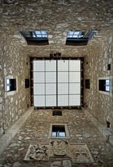 Inside the tower of Nehaj castle