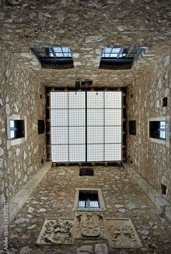 Inside the tower of Nehaj castle