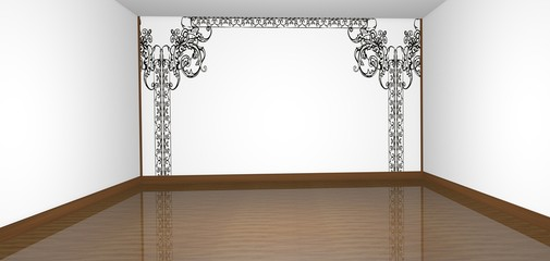 Salone interno vuoto