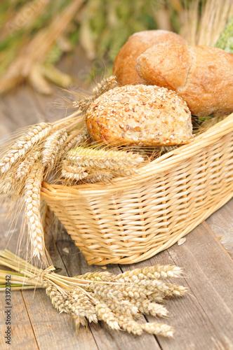 Brötchen aus vollem Korn