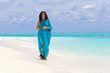 Woman Wearing Sari