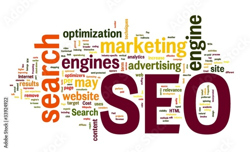 SEO Search engine optimization in word cloud