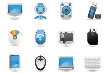 Illustration of Computer icon set