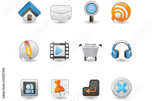 Website and Internet icon set