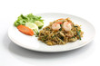 Thai food padthai isolated in white background