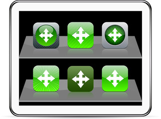 Map green app icons.