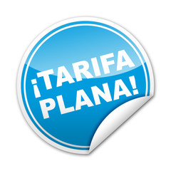 Pegatina ¡TARIFA PLANA! con reborde