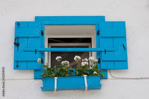 Leinwanddruck Bild finestra