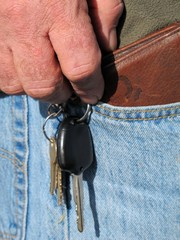 Man taking wallet from jeans pocket 2