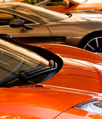 orange bronze sports cars