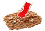 sedia a sdraio su sabbia