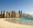 Beach in Dubai. Panoramic view.