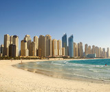Fototapety Beach in Dubai. Panoramic view.