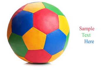 color soccer ball