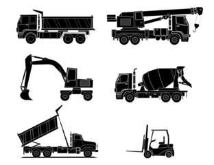 Construction machines vector