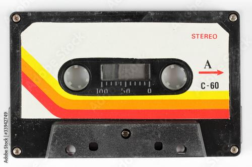 Leinwanddruck Bild old cassette