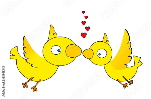vector illustration: love birds