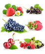 set fresh berries