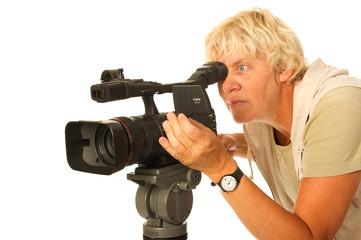 Video camera woman