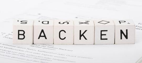 Backen Buchstabenwürfel