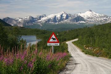 Schotterpist in Nornskandinavien