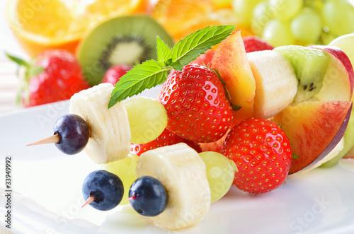 Leinwanddruck Bild Frische Fruchtspieße