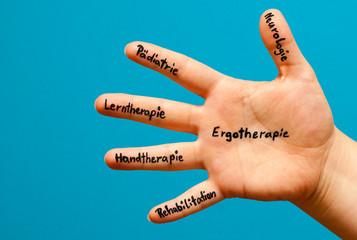 Hand  zum Thema Ergotherapie