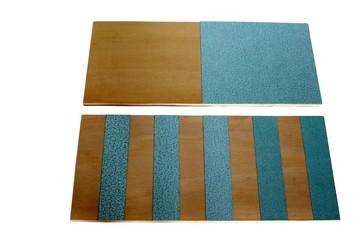 Planches lisses et rugueuses, matériel Montessori