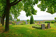 Leinwanddruck Bild - Friedhof