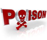 Poison Word Skull and Crossbones Death Kill Symbol poster