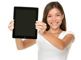 Touchpad woman showing tablet PC - 33954714
