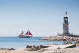 Fototapety lighthouse and ship
