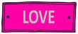 pink love sign, symbol