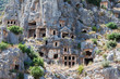 Rock tombs in Myra, Demre, Turkey