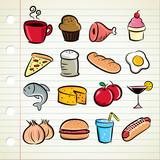 sketchy food and drink  illustration poster