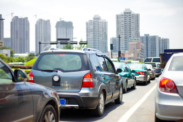 traffic jam on a road