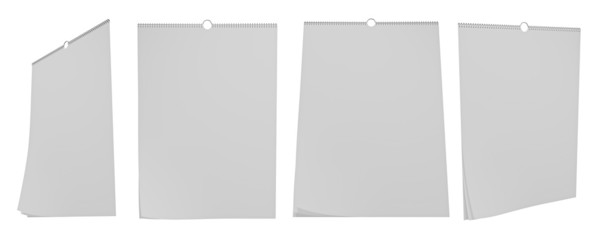 Four View wall calendar blank