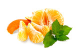 Mandarin purified with mint and slices poster