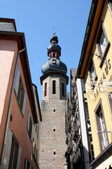 The tower of a city gate in Cochem in Germany