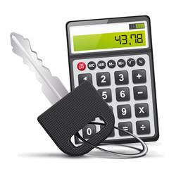 clé et calculatrice