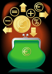 purse banking euro